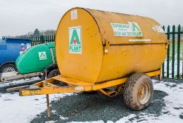 Trailer Engineering 500 gallon site tow bunded fuel bowser c/w manual pump, delivery hose & nozzle
