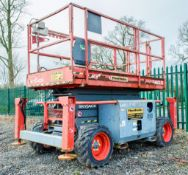 Skyjack SJ6832 RT 4x4 Rough Terrain scissor lift access platform Year: 2014 S/N: 37005232 Recorded