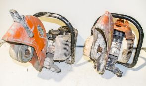 2 - Stihl petrol driven cut off saws for spares