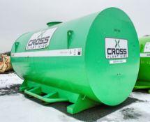 Cross Plant 10,000 litre static bunded fuel bowser c/w petrol driven fuel pump, delivery hose &