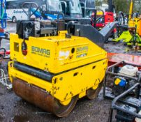 Bomag BW65H diesel driven double drum pedestrian roller Year: 2008 S/N: 101 100 741759
