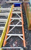 6 tread glass fibre framed step ladder A672816