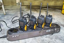 4 - HYT 2 way radios c/w charging port