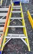 6 tread glass fibre framed step ladder A773093