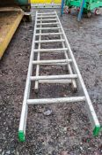 2 - aluminium ladder sections