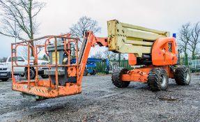 JLG 450AJ Series II diesel driven rough terrain articulated boom access platform Year: 2012 S/N: