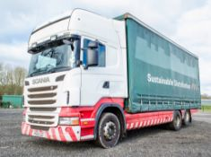 Scania R440 Topline 26 tonne 6 x 2 curtain sided draw bar lorry Registration Number: PK 60 SZF