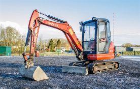 Kubota KX71-3 2.6 tonne rubber tracked excavator