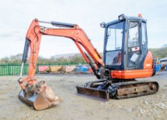 Kubota KX61-3 2.6 tonne rubber tracked excavator Year: 2013 S/N: 80076 Recorded Hours: 3184 blade,