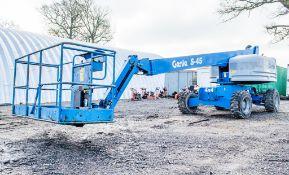 Genie S-45 4x4 rough terrain diesel driven articulated boom access platform Year: 2014 S/N: 18908