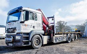 MAN TGS 26.440 26 tonne 6 wheel flat bed crane lorry Registration Number: NX11 UGR Date of