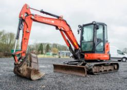 Kubota U48-4 4.8 tonne rubber tracked excavator Year: 2012 S/N: 51320 Recorded Hours: 4565 blade,