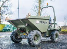 Terex 3 tonne straight skip dumper EX MOD Year: 2011 S/N: J2881 Recorded Hours: 202