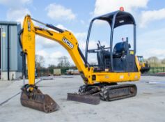 JCB 801.4 CTS 1.5 tonne rubber tracked mini excavator Year: 2014 S/N 2070320 Recorded Hours: 863