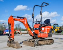 Kubota K008-3 0.8 tonne rubber tracked micro excavator Year: 2017 S/N: 29573 Recorded Hours: 1058