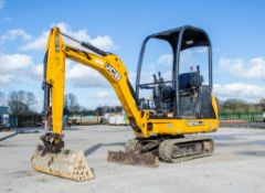 JCB 801.4 CTS 1.5 tonne rubber tracked mini excavator Year: 2014 S/N 2070391 Recorded Hours: 1363