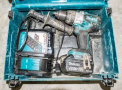 Makita 18v cordless power drill c/w charger, battery & carry case A1086977