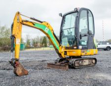 JCB 8018 CTS 1.5 tonne rubber tracked mini excavator Year: 2015 S/N: 2371787 Recorded Hours: 1228
