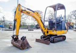JCB 801.4 CTS 1.5 tonne rubber tracked mini excavator Year: 2015 S/N 2076491 Recorded Hours: 2075