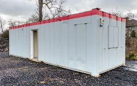 32 ft x 10 ft steel anti vandal office/toilet site unit comprising of: lobby, office, ladies (1