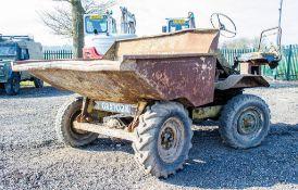 2 tonne diesel driven 4WD dumper Registration Number: GRX 702K ** Dumper starts, runs & drives but