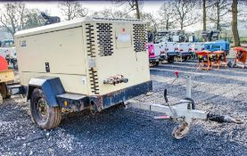 Doosan 7/120 diesel driven fast tow mobile air compressor Year: 2013 S/N: Y659479 Recorded Hours: