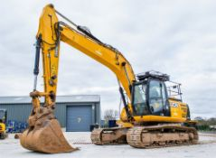 JCB JS 220 LC 22 tonne steel tracked excavator Year: 2014 S/N: 02135730 Rec Hours: 7662 c/w 2