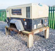 Doosan 7/41 diesel driven skid mounted air compressor Year: 2017 S/N: Y434751 Recorded Hours: 270