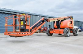 JLG 600AJ diesel driven articulated boom lift access platform Year: 2012 S/N: 60997 Recorded