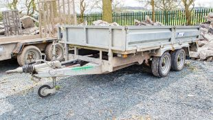 Indespension 10 ft x 5 ft 6 inch tandem axle drop side flatbed trailer A723412