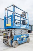 Genie GS1932 battery electric scissor lift access platform Year: 2015 S/N: 143848 Recorded Hours: