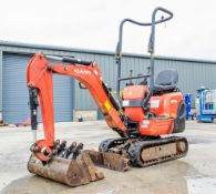 Kubota K008-3 0.8 tonne rubber tracked micro excavator Year: 2017 S/N: 29274 Recorded Hours: 1105
