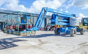 Genie Z60/34 diesel/electric articulated boom lift access platform Year: 2014 S/N: Z6014-13483