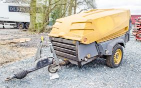 Atlas Copco XAS 67 diesel driven mobile air compressor Year: 2008 Recorded Hours: 2121 COM073 S20