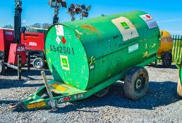 Trailer Engineering 250 gallon site tow bunded fuel bowser c/w hand pump, delivery hose & trigger