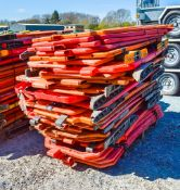 Pallet of plastic barriers as photo'd