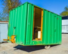 Groundhog 12' x 8' mobile welfare cabin **door and other parts missing** A576298