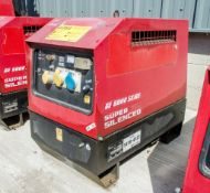 Mosa GE6000 SX/GS diesel driven generator Year: 2014 S/N: 036367 Recorded Hours: 1410-4122
