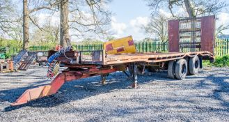21ft x 8ft low loader trailer c/w hydraulic ramps TC