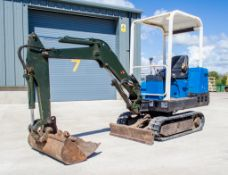 Pel Job EB12.4 1.3 tonne rubber tracjed mini excavator Year: 1994 S/N: 23377 Recorded Hours: 1923