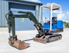 Pel Job EB12.4 1.3 tonne rubber tracked mini excavator Year: 1994 S/N: 23377 Recorded Hours: 1923