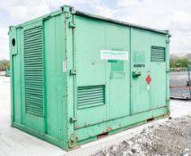 10 ft x 8 ft steel fuel cell site unit c/w keys A608810
