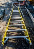 Clow 8 tread glass fibre framed step ladder SB