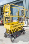 Youngman Boss XS battery electric push around scissor lift access platform Year: 2011 S/N: 32054