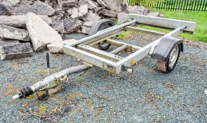 Knott Avonride single axle generator trailer Year: 2014 S/N: E11120051 ** Tow ball missing **