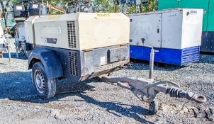 Ingersoll Rand 741 diesel driven fast tow mobile air compressor Year: 2006 S/N: 423267 Recorded