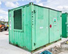 10 ft x 8 ft steel fuel cell site unit c/w keys A341122