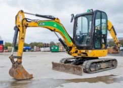 JCB 8025 ZTS 2.5 tonne rubber tracked mini excavator Year: 2013 S/N: 2226198 Recorded Hours: 2648
