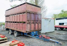 McGrath 12 tonne twin axle stock trailer Year: 1990 S/N: 22153