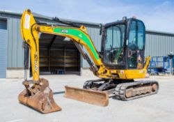 JCB 8030 ZTS 3 tonne rubber tracked mini excavator Year: 2014 S/N: 102116956 Recorded Hours: 2435